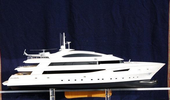 Scale model of the 50m superyacht Beatrix by Cantieri Navali di Termoli