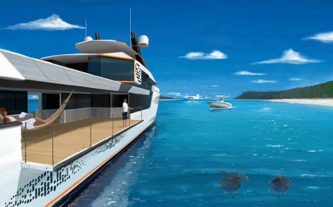 Super yacht FLOW concept