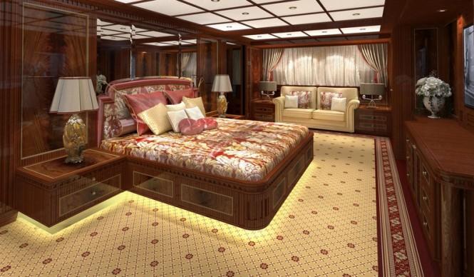 Super yacht GAZZELLA - Owners Cabin