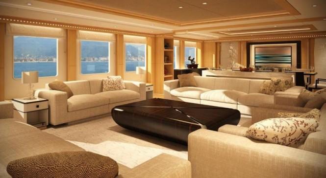 Super yacht Majesty 155 - Main Saloon