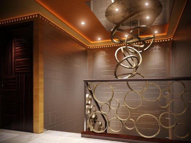 Super yacht Majesty 155 - Upper Deck Lobby