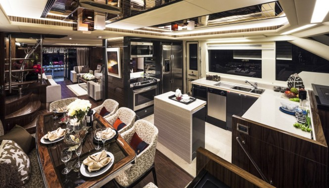 Superyacht Horizon V80 - Galley and Dining