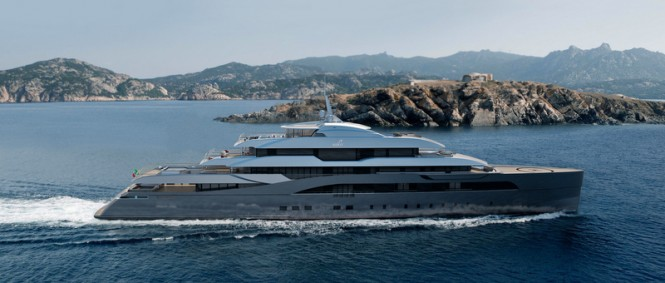 Superyacht RIBOT 85 concept - side view