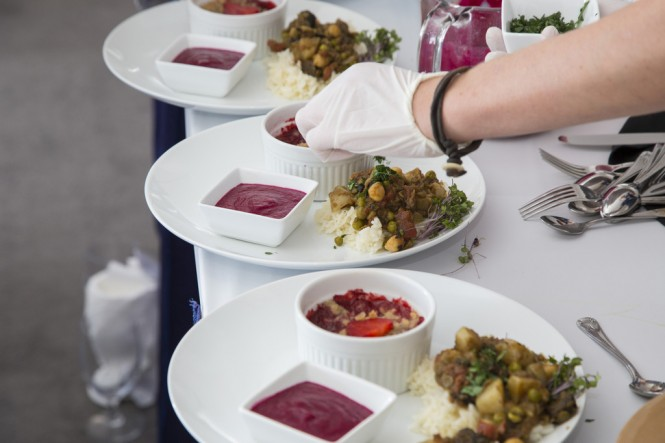 The 2014 Newport Charter Yacht Show Crew Competitions Delicious Meals - Photo by Billy Black