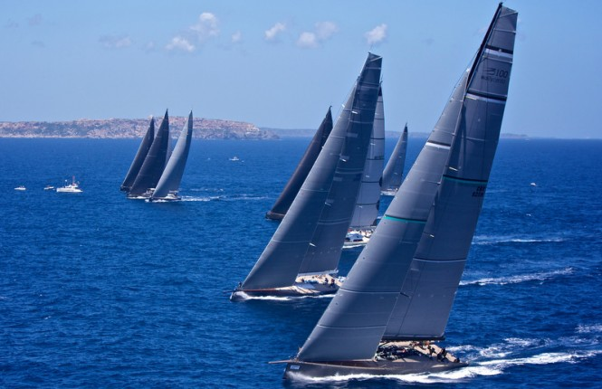 Wally Class start at Menorca Maxi 2014 - Photo by Jesus Renedo
