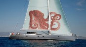 100ft Comar super yacht Shadow under sail