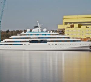 Sea trials for Impressive 123m Lurssen Mega Yacht GOLDEN ODYSSEY