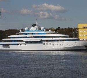 Massive 125m Superyacht GOLDEN ODYSSEY spotted at Lurssen in Germany