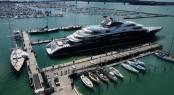 134m super yacht SERENE docked in Auckland's Silo Marina