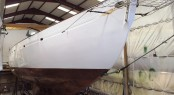 1923 Fife Classic Yacht KENTRA ready to leave her shed - Photo by Fairlie Yachts
