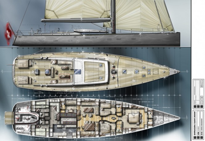 31m Mengi Yay Yacht Concept by Barracuda Yacht Design - Profile and General Arrangements