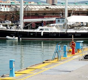 Majestic 36m Sailing Yacht YANNEKE TOO spotted in the port of Livorno, Italy