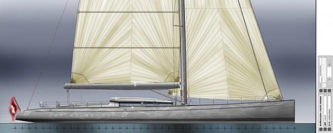 40m Mengi Yay superyacht concept - Profile