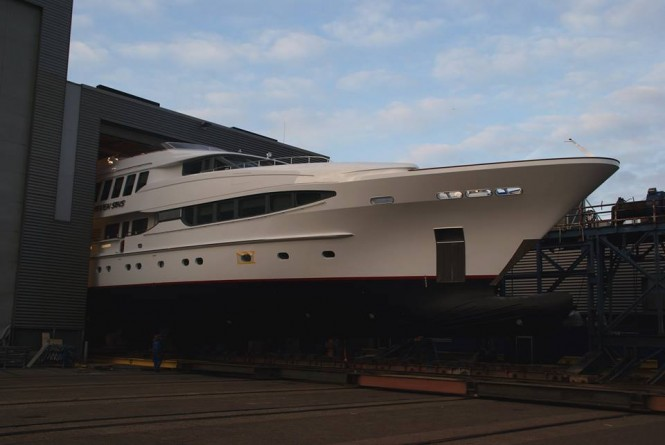 43,60m charter yacht SEVEN SINS to be re-launched soon - Photo by Balk Shipyard