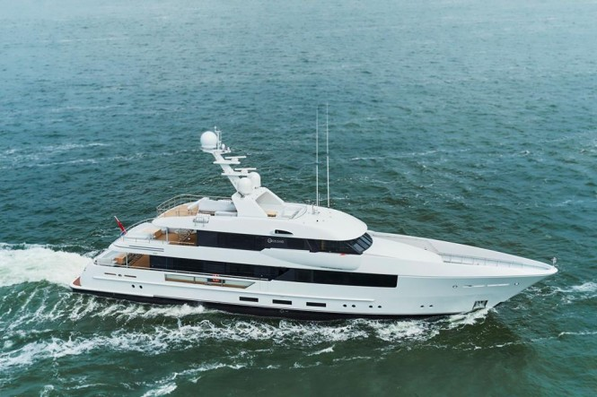 44m superyacht MOON SAND under sea trials - Photo credit to Feadship