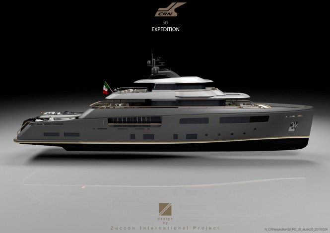50m expedition yacht Teseo concept by Zuccon International Project