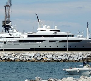 Gorgeous 53m Rossi Navi Motor Yacht SOUTH spotted at Benetti