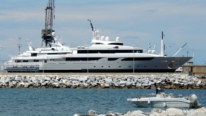 53m Rossi Navi Yacht SOUTH at the Benetti shipyard in Livorno, Italy - Photo by Roberto Malfatti