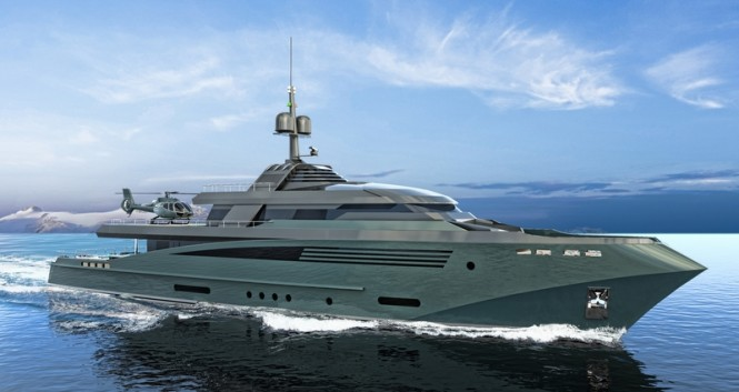 56m Expedition Yacht QUEEQUEG concept by Federico Fiorentino