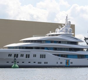 Autumn Delivery for Massive 91m Lurssen mega yacht ORCHID