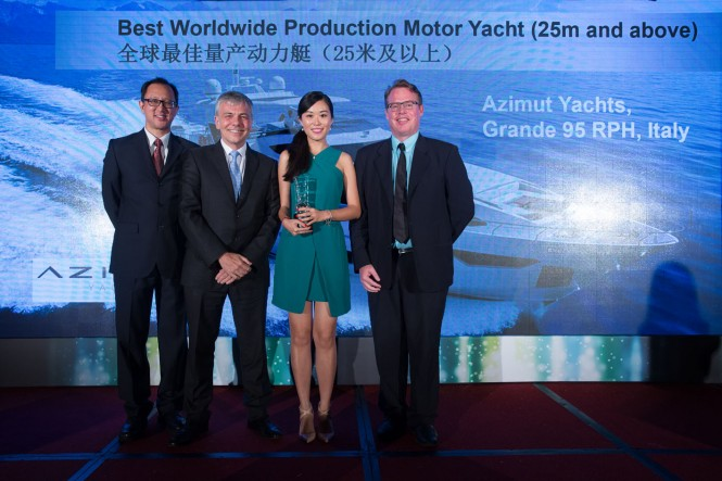 Asia Boating Award 2015 for Azimut Grande 95 RPH superyacht