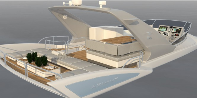 Azimut 70 Yacht fly