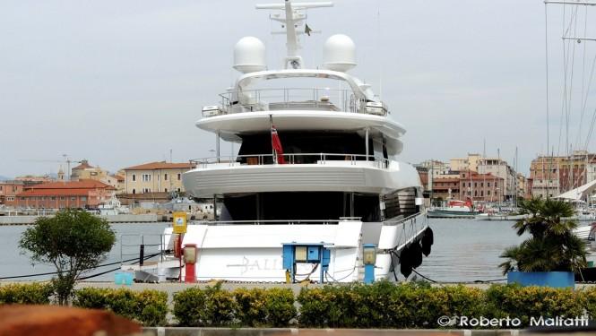 BALISTA superyacht - aft view - Photo by Roberto Malfatti