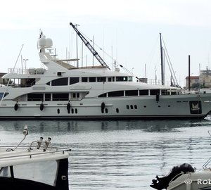 Beautiful 44m Benetti Superyacht VICA spotted in Livorno, Italy