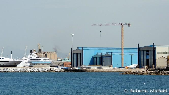 Benetti shipyard in Livorno