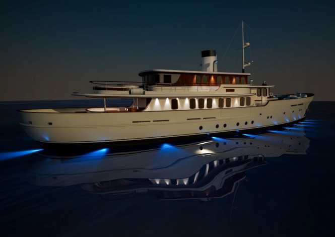 Classic 40M yacht concept by Sarp Yacht