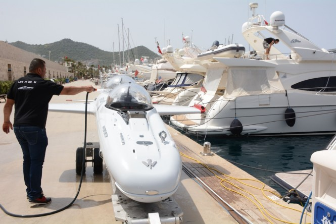 DeepFlight Super Falcon in Turkey at Palmarina Bodrum