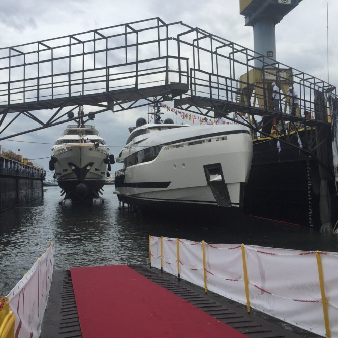 Double launch for Columbus Yachts