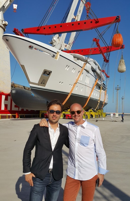 Emrecan ÖZGÜN (Founder & Director of ÖZGÜN and UNIQUE YACHT DESIGN) and Guillaume Roche (Co-Founder and CEO of SUNRISE YACHTS)