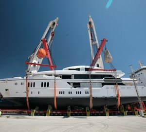 Eagerly awaited launch of 63m Sunrise Mega Yacht IRIMARI