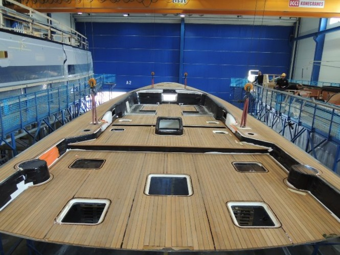 Flush Deck for first Swan 115 FD superyacht - Photo by Nautors Swan