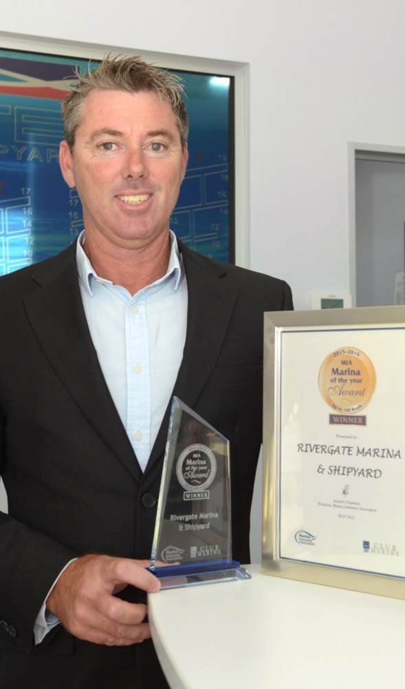 General Manager, Andrew Cannon, with award