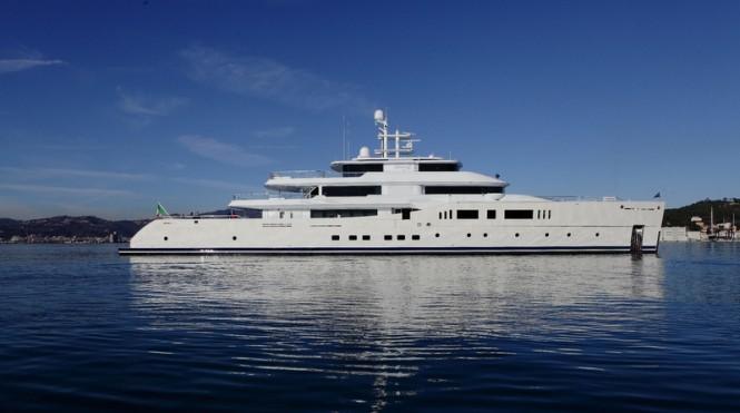Grace E Yacht - side view