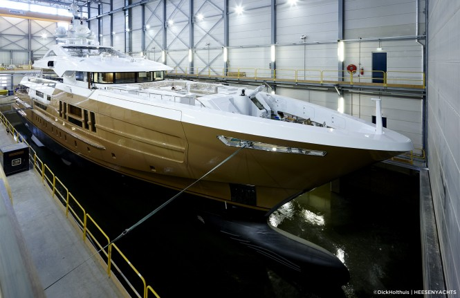 HY 17255 AZAMANTA Yacht at launch - Photo by Dick Holthuis and Heesen Yachts