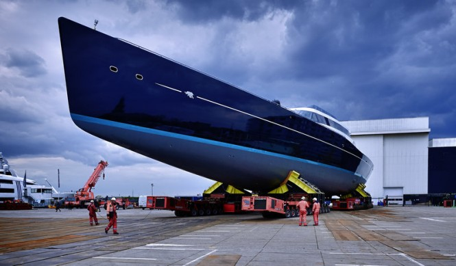 Launch of Oceanco and Vitters superyacht AQUIJO (Project 85)