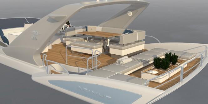 Luxury motor yacht Azimut 70 Fly