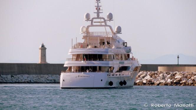 Luxury yacht FORMOSA - aft view - Photo by Roberto Malfatti