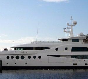 Sea trials for AMELS LE199 Mega Yacht MADAME KATE