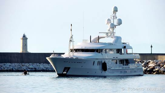Luxury yacht Seahorse in Livorno - Photo by Roberto Malfatti