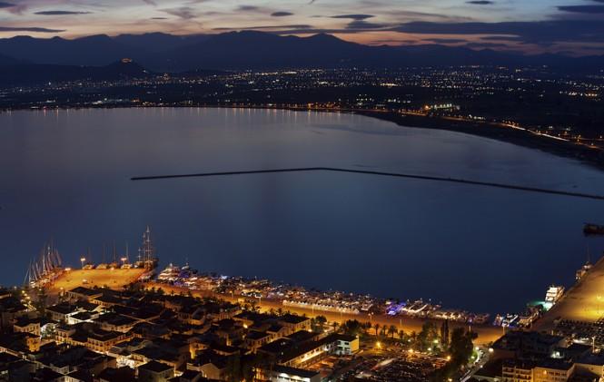 Mediterranean Yacht Show 2015 by night