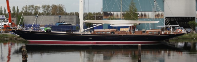 New Truly Classic 127 Superyacht ATALANTE on the water