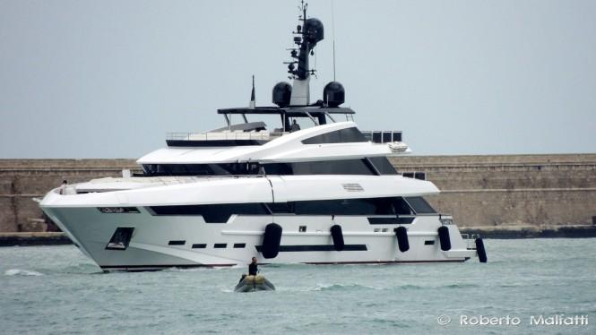 Prince Shark 49 Yacht Polaris by Rossinavi in the port of Livorno, Italy - Photo by Roberto Malfatti