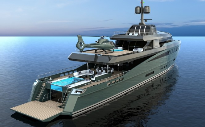 QUEEQUEG yacht concept - aft view