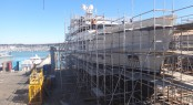 Refit of charter yacht Big Fish at Titan Marine in New Zealand
