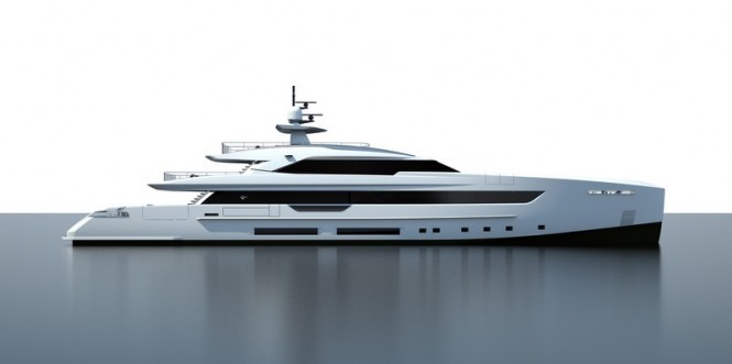 Rendering of Tankoa S501 superyacht Hull no. 1