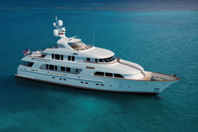 Rendering of the 40m superyacht ONIKA by Delta Marine